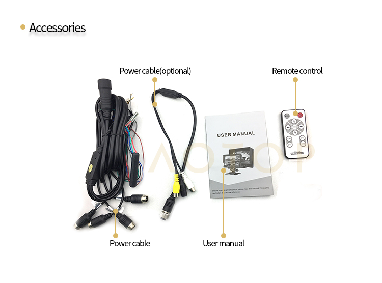 7inch quad monitor for car